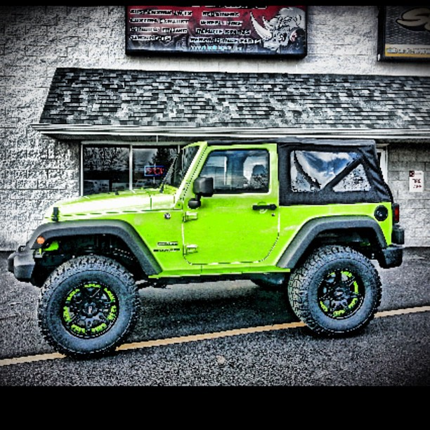 lime green jeep wrangler. Black Bedroom Furniture Sets. Home Design Ideas