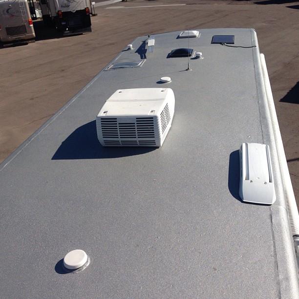 Eco Coat On Motorhome Roof