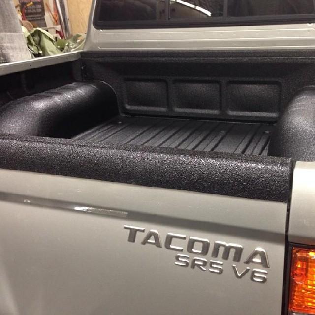 Rhino Lined Over The Tailgate Toyota Tacoma Rhinolinings Rhinoliningsofoc