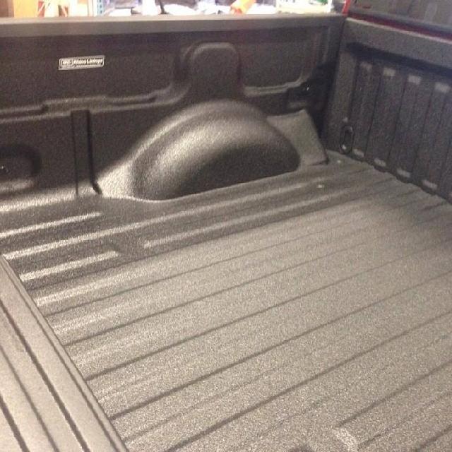 clean rhino finish in truck bed