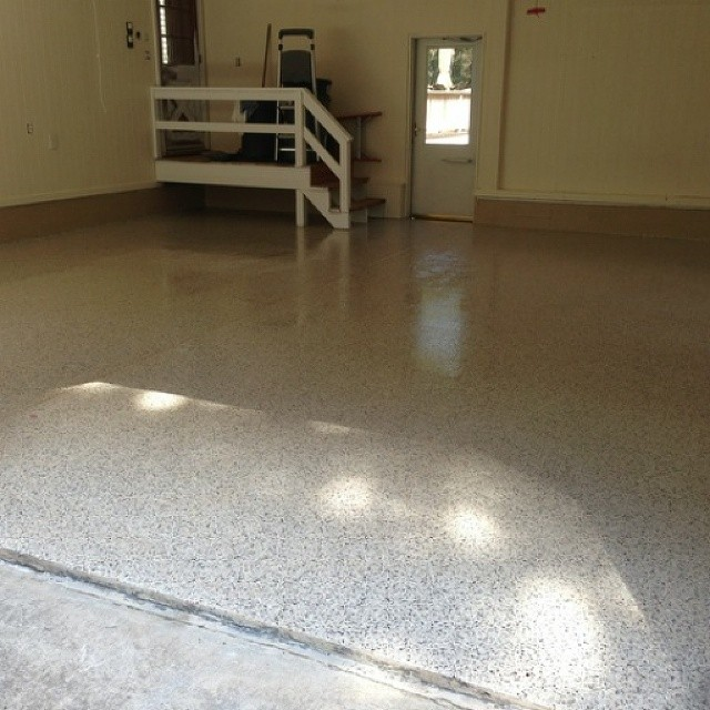 Spruce up your garage floor with Rhino Home Pro! #rhinolinings #rhinolingsofoc #garage #homeimprovement